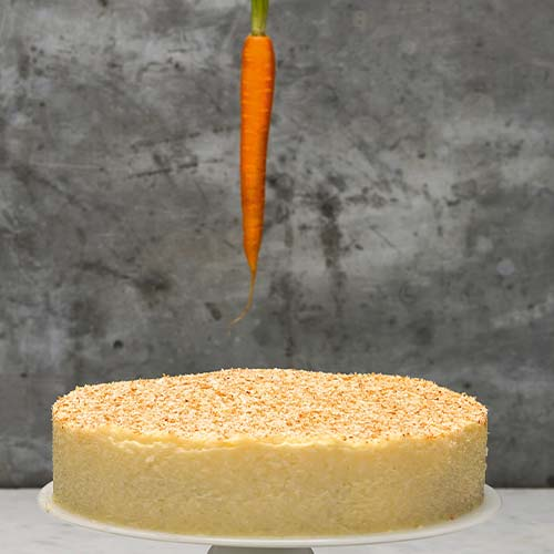 CARROT CAKE WITH COCONUT ICING