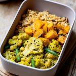 CAULIFLOWER CURRY WITH ROASTED SQUASH