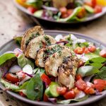 JERK CHICKEN AND TOMATO SALAD