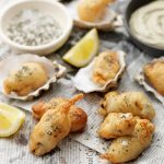 OYSTER FRITTERS WITH SEAWEED MAYONNAISE