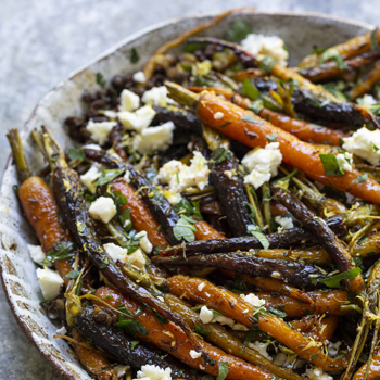 ROASTED MOROCCAN SALAD WITH CARROTS