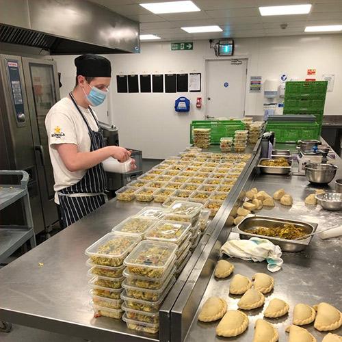 Preparing food for the NHS