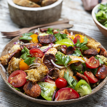 TOMATO SALAD WITH CHARGRILLED CHORIZO