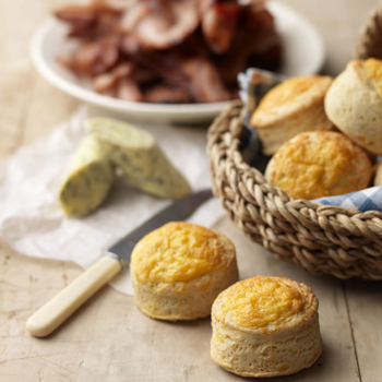 CHEESE SCONES WITH OLD SPOT BACON