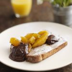 EGGY BREAD WITH CHOCOLATE AND ORANGE SAUCE