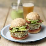 FISH BURGERS WITH HERB MAYONNAISE