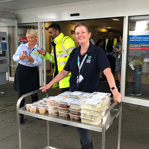 Food delivery by Meals From Marlow to local hospitals