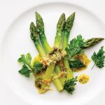 ASPARAGUS WITH DUCK EGG YOLK DRESSING