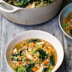 CHICKEN AND PEARL BARLEY SOUP