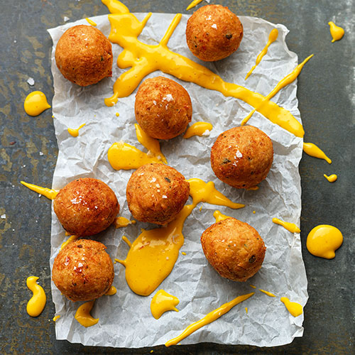 CRAB FRITTERS WITH SAFFRON MAYONNAISE