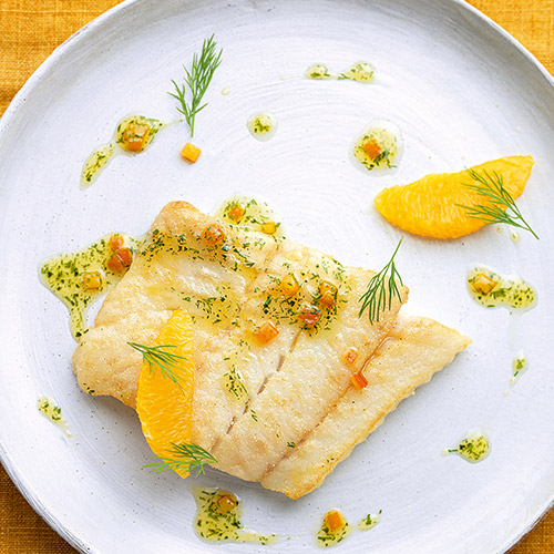 POLLACK WITH ORANGE AND DILL