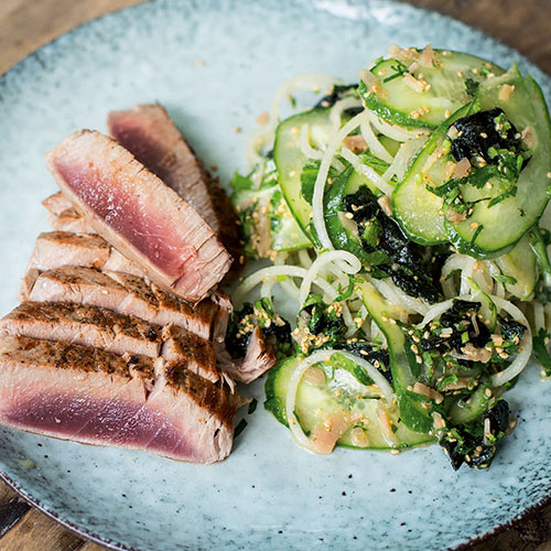 SEARED TUNA, WHITE RADISH AND SESAME SALAD