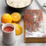SPICED ORANGE CAKE, PLUM SAUCE & CHRISTMAS PUDDING ICE CREAM