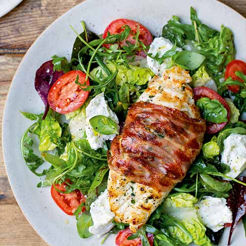 CHICKEN, TOMATO AND MOZZARELLA SALAD